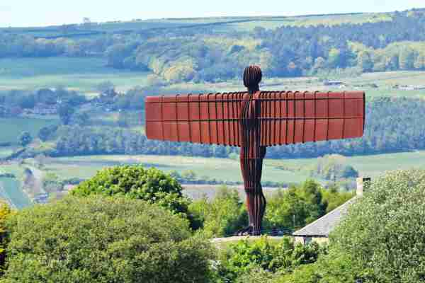 The Angel of the North (Photo by Ken Fitzpatrick/Flickr)
