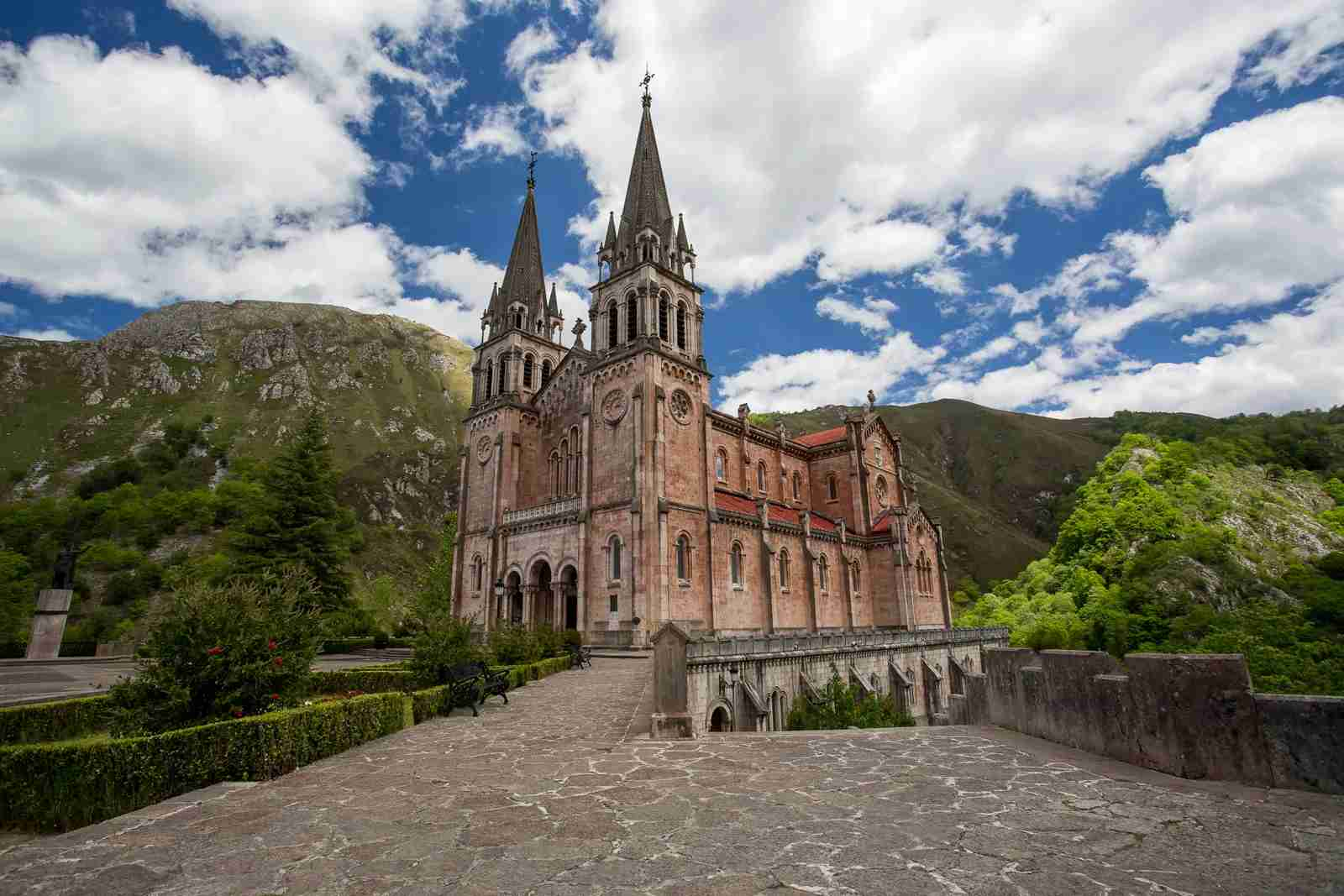 TheBasílica de Santa María la Real in Covadonga. (Photo by Phillipe Saire Photography/Getty Images)