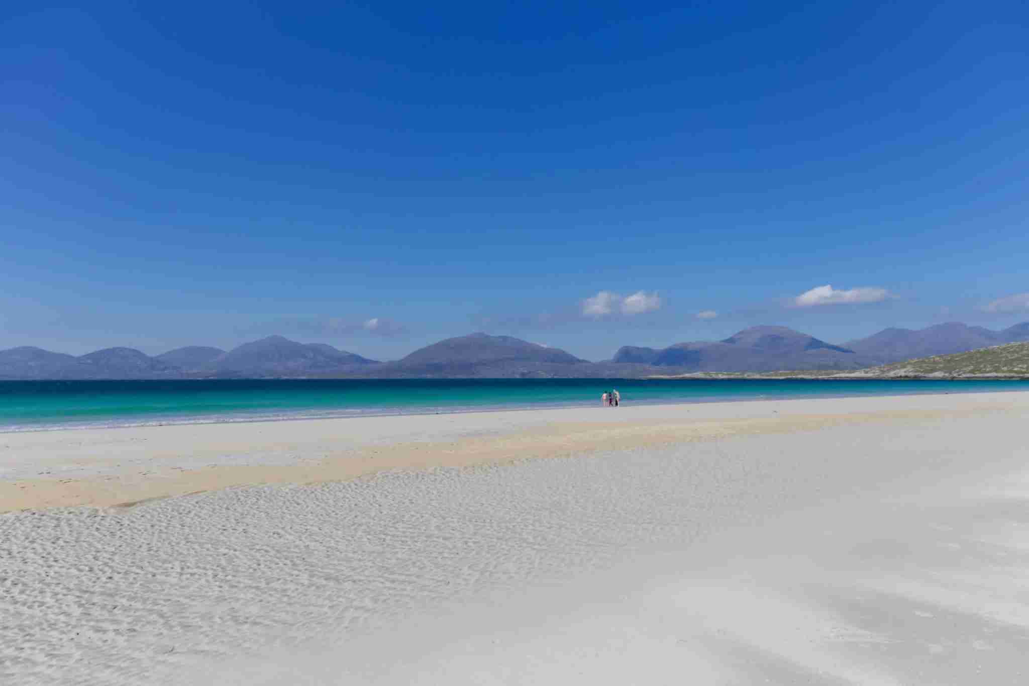 Luskentyre Beach on the Isle of Harris, Outer Hebrides, Scotland, UK (Photo by PetraKosonen/Getty Images)