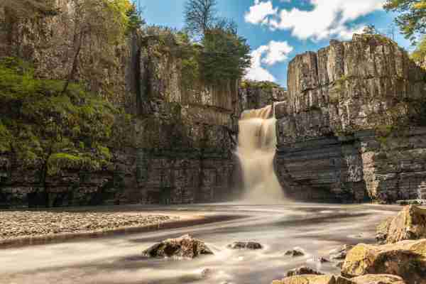 High force waterfall located in the north east of england on the river tees (Photo by Graham Hartley/Getty Images)