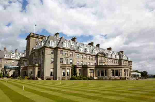 Luxury Scottish tourist golf resort with croquet lawn. More from Gleneagles in my Portfolio. (Photo by Elgol/Getty Images)