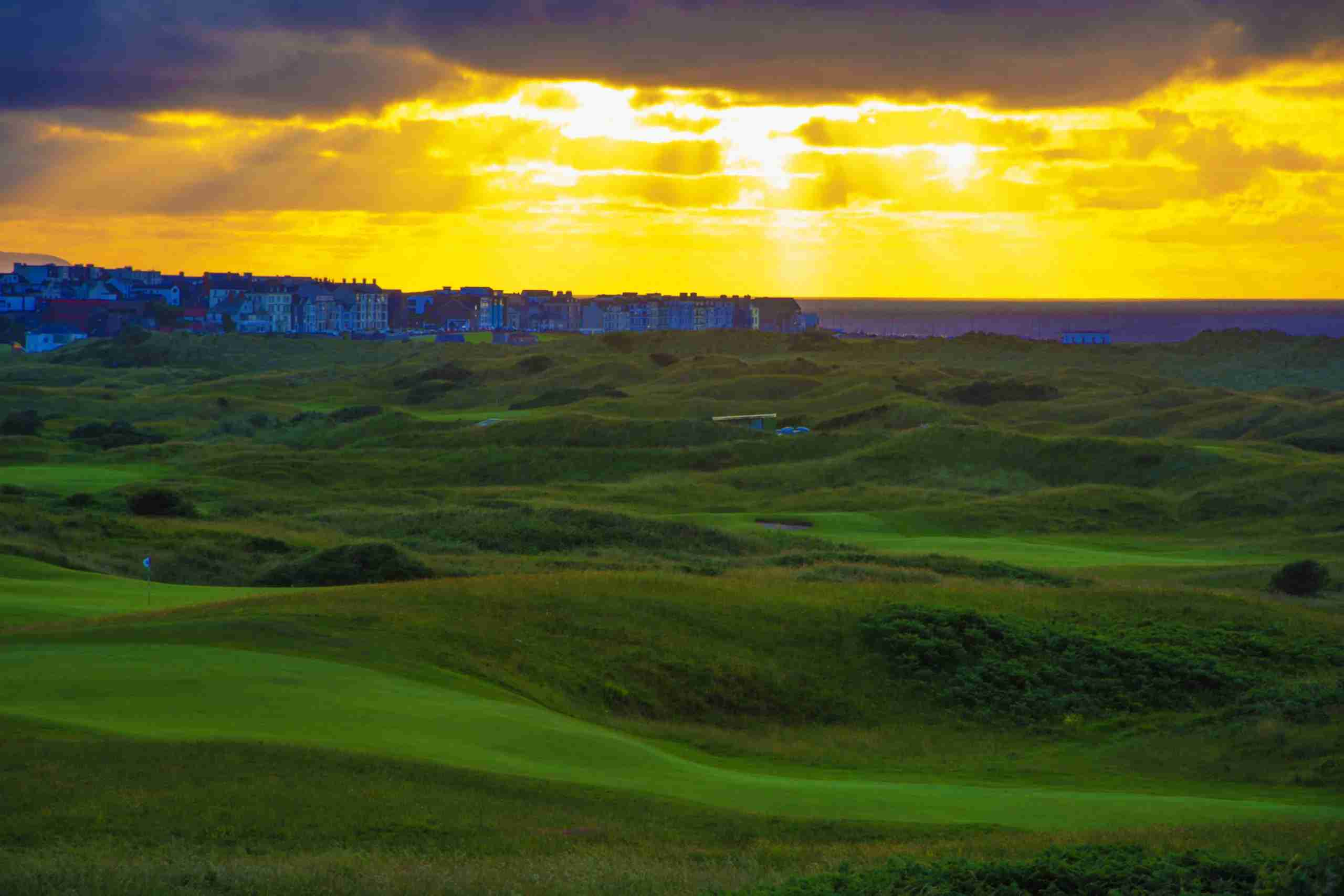 Sun Breaks through Clouds at Royal Portrush Golf Club. (Photo by Atlantic-Lens-Photography/Getty Images)