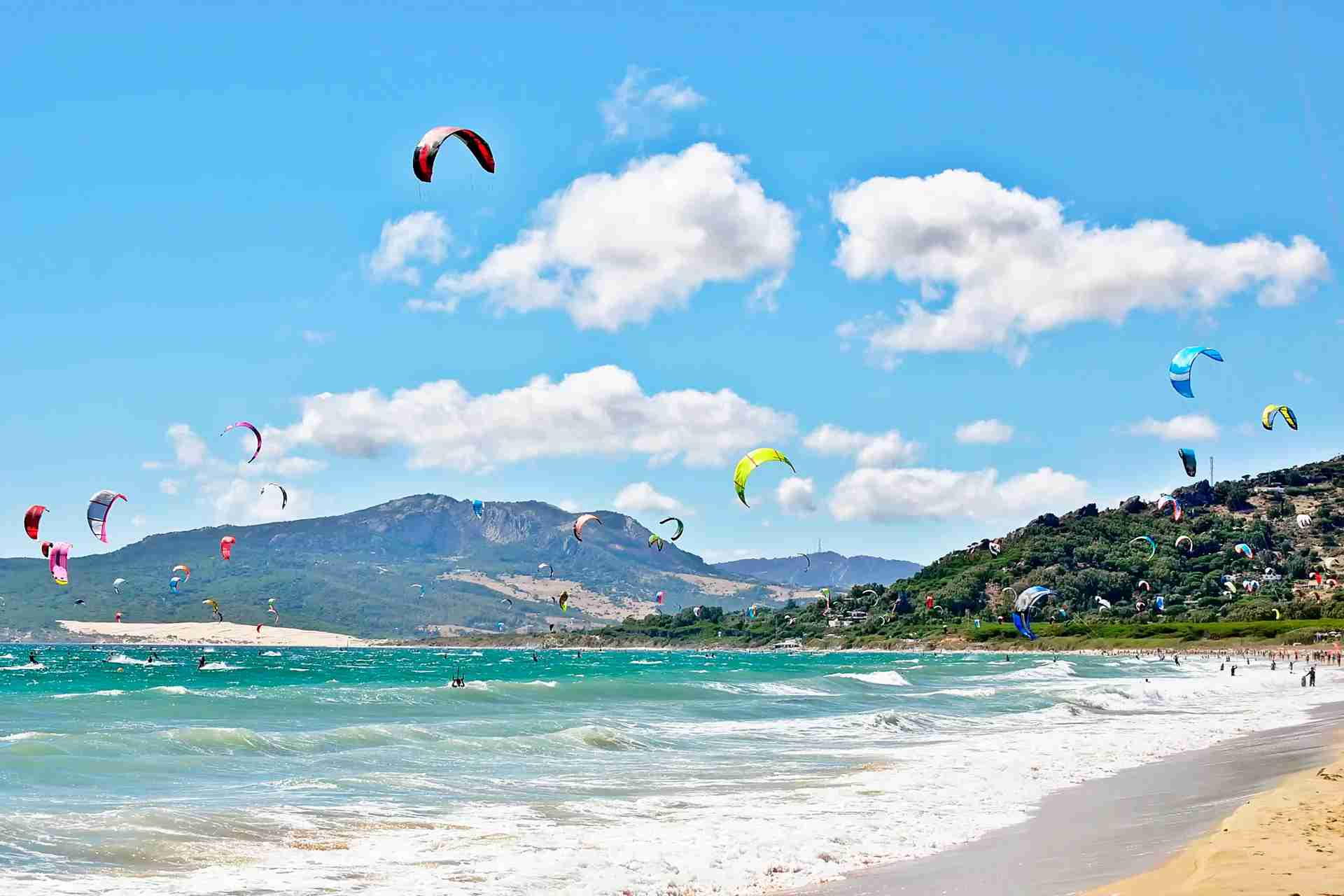 Tarifa beach in Spain. (Photo by Bogdan Angheloiu/Getty Images)