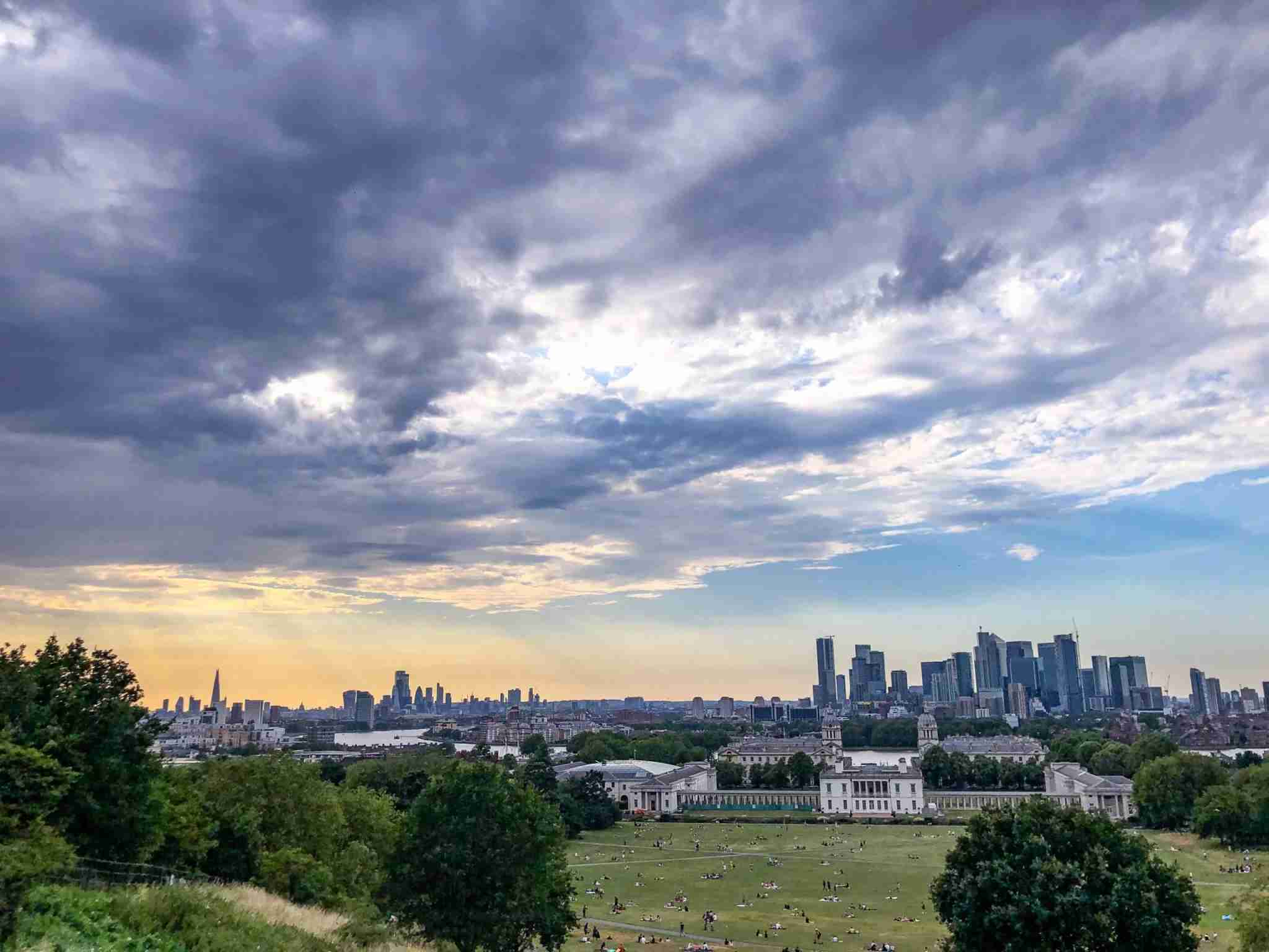 London from the Greenwich Observatory. Photo by Christian Kramer / The Points Guy