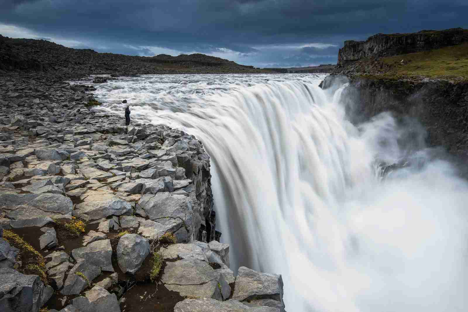 Dettifoss waterfall in northern Iceland. (Photo by Erwan Le Roux/Getty Images)