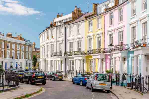 The townhouses of Primrose Hill. (Photo by Alexander Spatari/Getty Images)