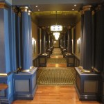 The hallway outside my suite. Love the restored Art Deco look.