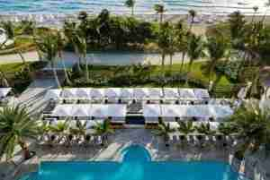 An aerial view of the St. Regis Bal Harbour