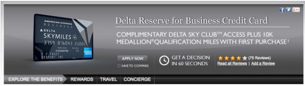 Delta reserve credit card offer howtoviews delta reserve business credit card american express gallery reheart Choice Image