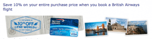 The 10% cardholder discount is one of the card
