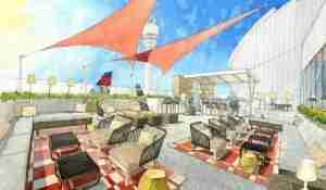 The Sky Deck, coming this summer to the Delta Sky Club at Atlanta