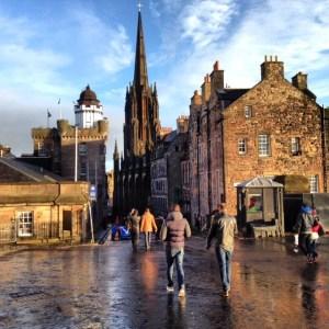 Enjoying a rare appearance from the sun in Edinburgh!