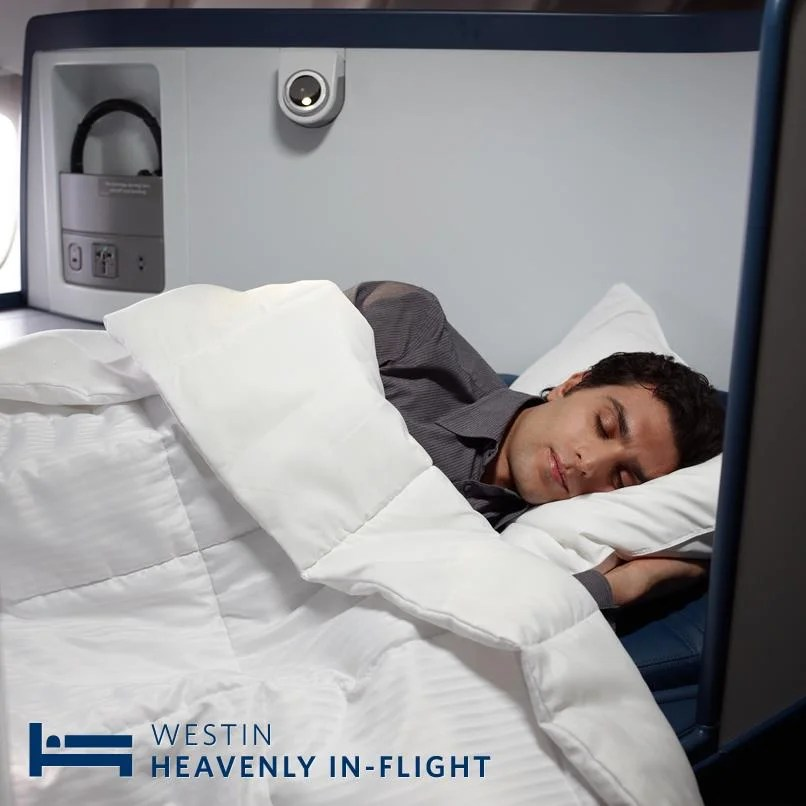 Delta And Westin Launching First In Flight Heavenly Bed