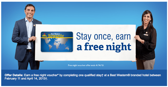 Best Western Rewards Stay 1 Night Get 1 Night Free (Targeted ...