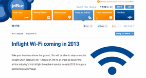 JetBlue was supposed to have WiFi already - when is it coming?