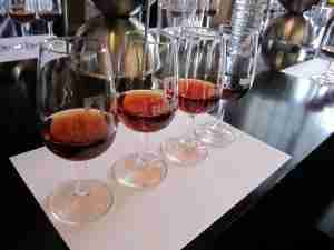 The wine tastings at Sandeman