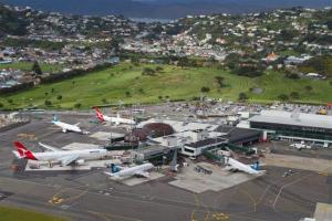 Wellington's airport is small, but serviced by several international and regional carriers.