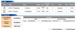 ANA US Airways PHL FRA BUS