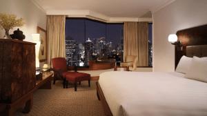Grand king guest room at the Grand Hyatt Erawan.