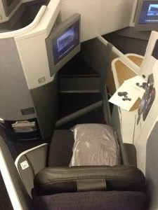 Business class seat from above