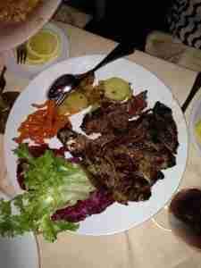 Florentine steak for two.