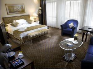 Royal Club room at the Radisson Blu Hotel, Beijing.