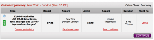 JFK-LHR for 13,000 miles in coach!