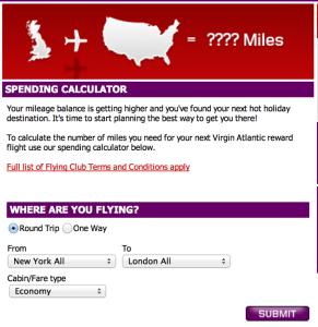 Virgin Atlantic has an award calculator.