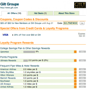 Maximizing Gilt Purchases With New Insider Rewards With Airline