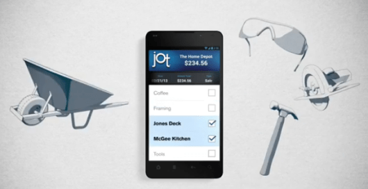 Jot even lets you categorize your expenses.