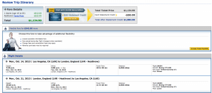 United from Los Angeles to London - expensive, but at least most of it counts towards PSD