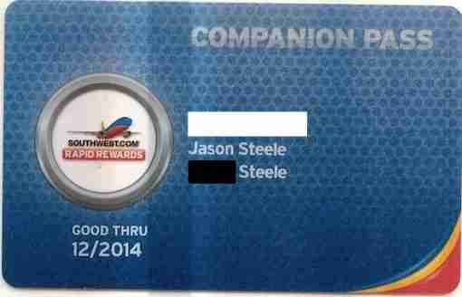 Getting the Companion Pass card itself is nice - even though you don