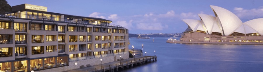 The newly-refurbished Park Hyatt is located on Sydney