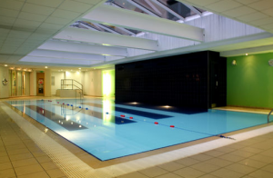 Pool area at the Holiday Inn Belfast.