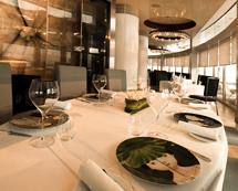 Enjoy upscale Asian dining at Sky 57.
