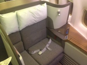 Cathay Pacific First Class Seat