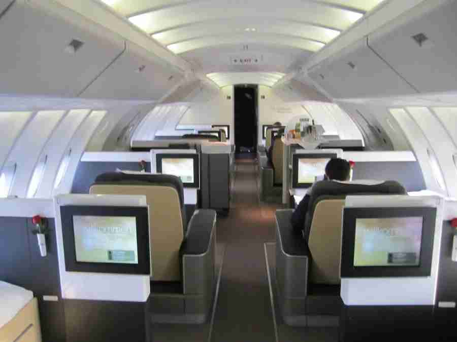 The first class cabin on the 747