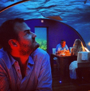 Feasting with the fishes at the Ithaa Undersea Restaurant.