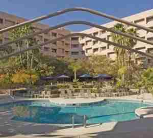 Take a swim at the outdoor pool at the Hilton Tucson East.
