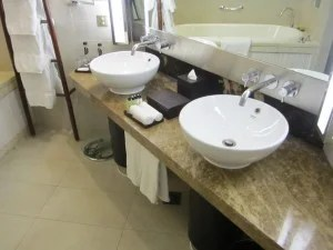 Double sinks with Agraria products.