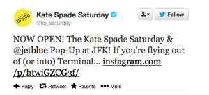 Shop for Kate Spade if you are flying through JFK
