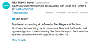 Southwest adds routes from LaGuardia, San Diego and Portland.