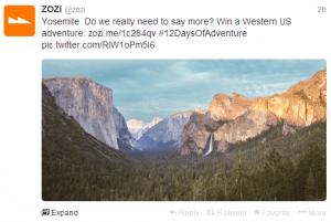 Win one of twelve amazing adventure trips.