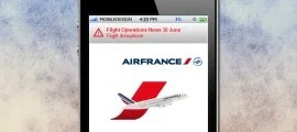 Chat from the sky on select Air France flights.