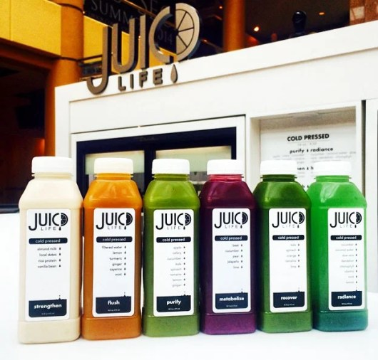 One of the cleanse programs from Phoenix's Juicd Life
