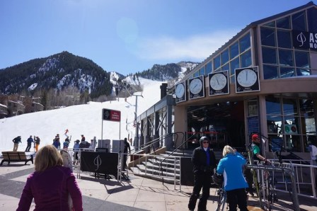 "The soaring peak of Aspen Mountain is nicknamed ""Ajax"""