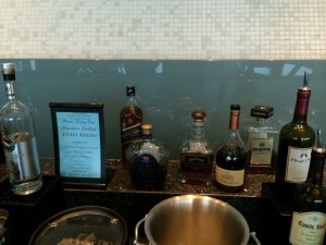 The small self-serve bar.