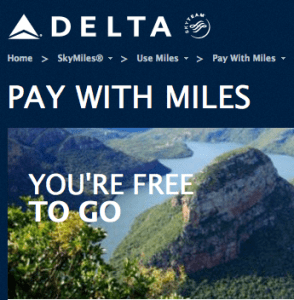 You only get 1 cent per mile with Delta