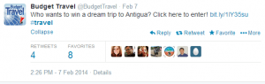 Win a hotel stay in Antigua.