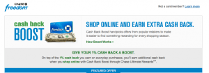 Don't forget to earn bonus points through the Ultimate Rewards shopping portal.